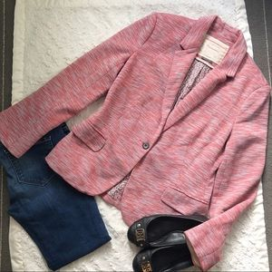 Cartonnier Pink Tonal Knit Blazer